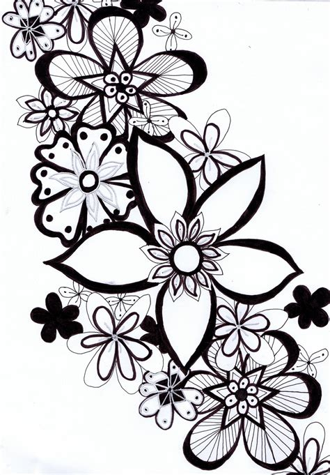 drawing doodle flowers doodle drawings here s a doodle i done