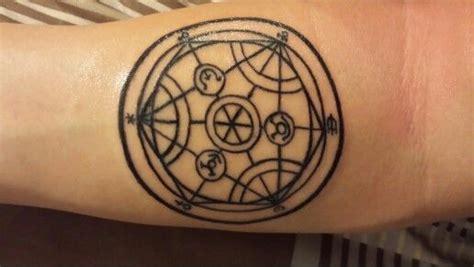 transmutation circle tattoo metal alchemist that i got human