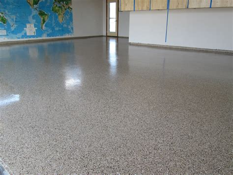 White Garage Floor Coating Epoxy After Makeover Large