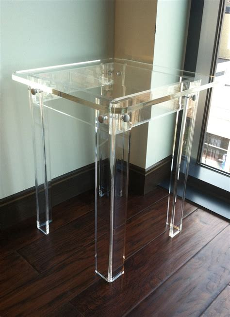 clear dining room table clear acrylic side table home furniture 149 00 via etsy