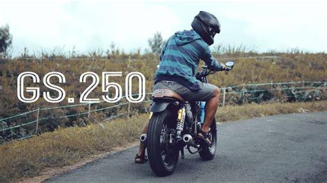 Karet Tromol Belakang Thunder 250 teaser hd suzuki gs 250 suzuki thunder 250 modifikasi caferacer