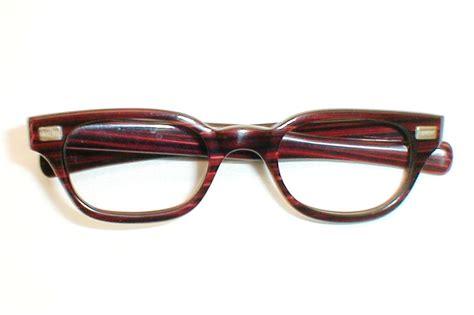 mens vintage 60s eyeglasses frames g redwood
