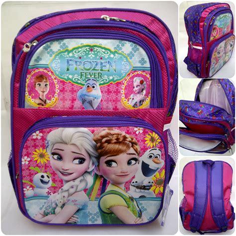 Tas Sekolah Anak Model Ransel Warna Pink Plus Boneka jual tas ransel sekolah anak frozen bercorak ukuran besar untuk anak sd pingbi shop