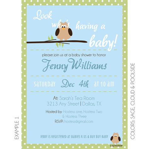 Baby Shower Invitations With Owl Theme by Owl Theme Baby Shower Invitation Kateogroup