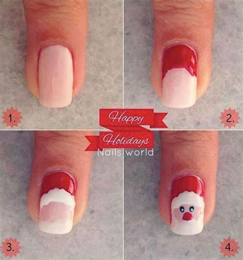 tutorial nail art natal easy step by step christmas nail art tutorials for