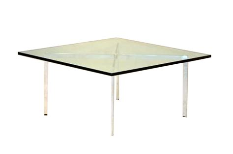 vintage barcelona coffee table mies der rohe for