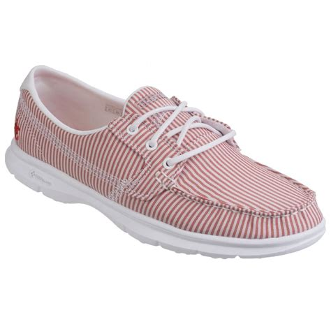 skechers go step womens casual boat shoes