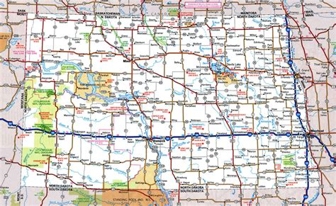 map of dakota dakota state road