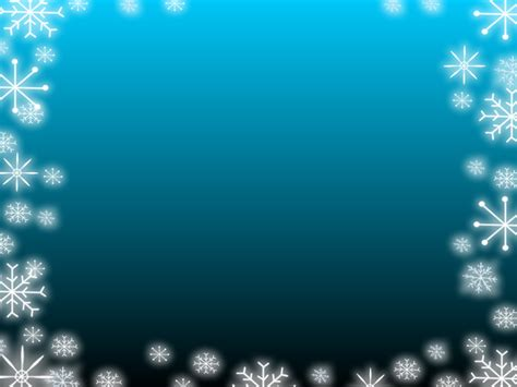 Blue Gradient Snowflake Backgrounds Blue Border Snowflake Powerpoint Template