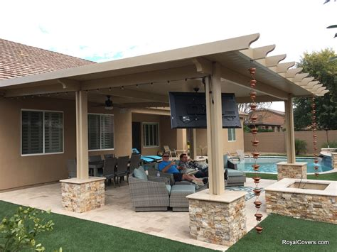 Alumawood Patio Cover Patio Pergola Covers For Phoenix Covering A Patio