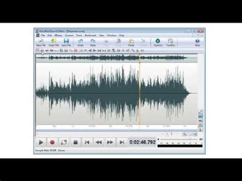 tutorial wavepad sound editor pdf how to edit audio with wavepad general overview tutorial
