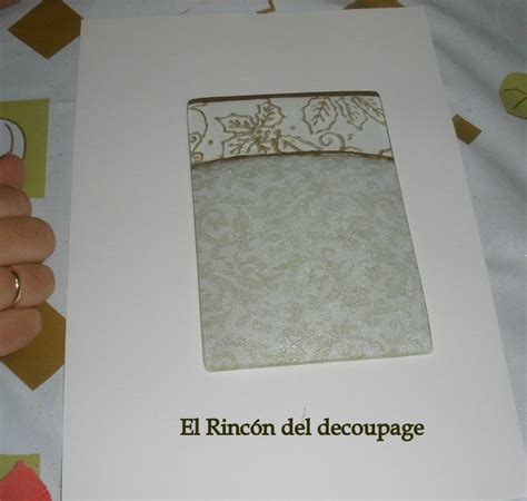 tutorial del decoupage el rinc 211 n del decoupage tutorial bandeja navide 241 a