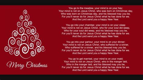 merry christmas lyrics version  youtube