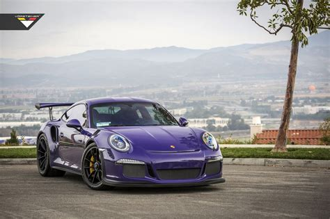 purple porsche 911 vorsteiner porsche 991 gt3 rs purple beast