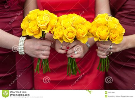 Bridesmaid Bouquet Yellow by Yellow Wedding Bouquets Stock Photo Image Of