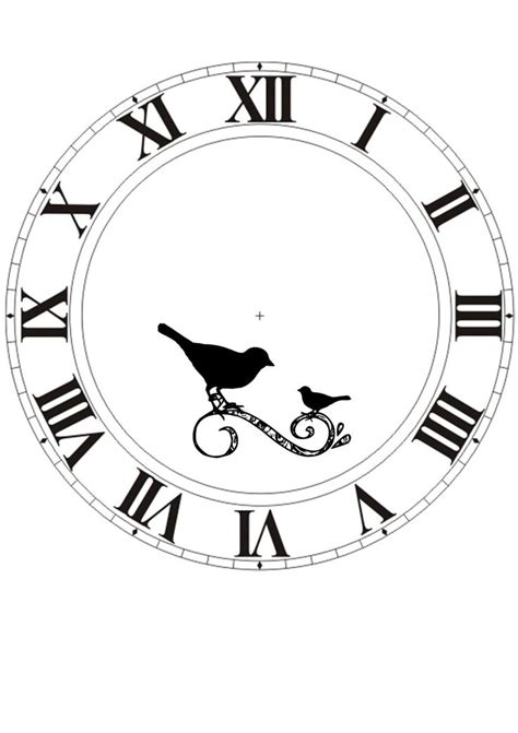 printable clock stencil printable blank clock face clipart best