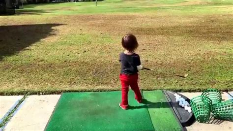 happy gilmore golf swing 3 year old happy gilmore golf swing youtube