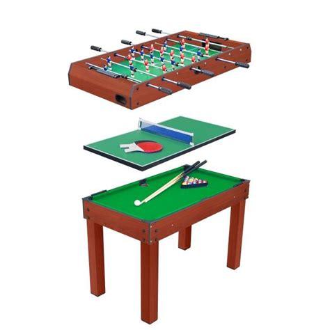 2 foot by 3 foot table table multi jeux 3 en 1 billard baby foot et ping pong