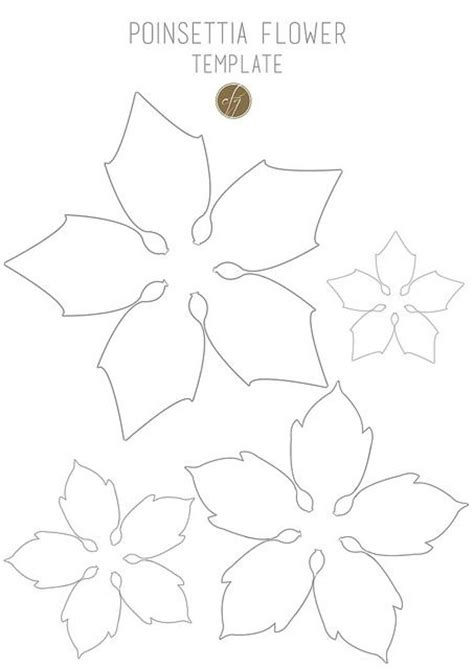 diy paper poinsettia free template flower paper and molde