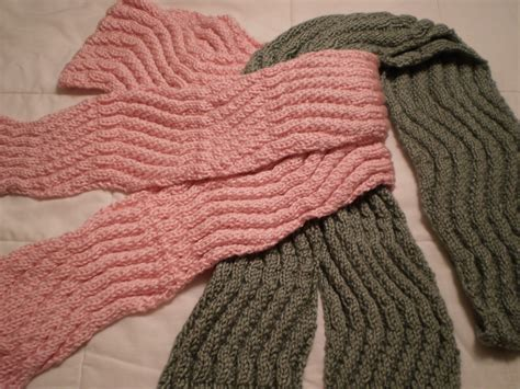 simple knitting row counting tips for wavy scarf knitting pattern easy