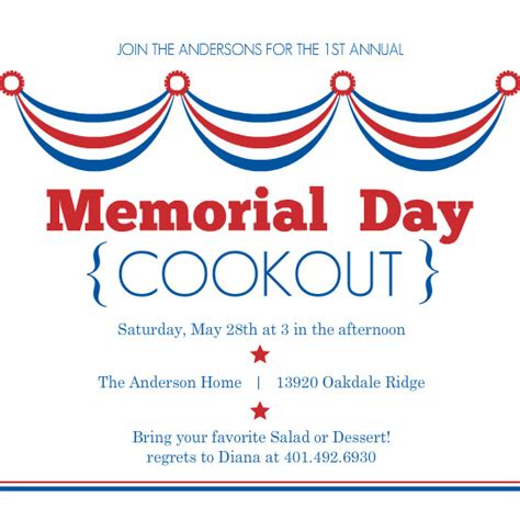 patriotic invitation templates free waving flags memorial day invitation patriotic