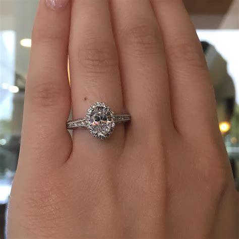 tacori engagement rings reverse crescent oval setting