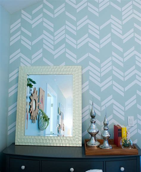 herringbone pattern wall decals remodelaholic 25 herringbone projects for your home