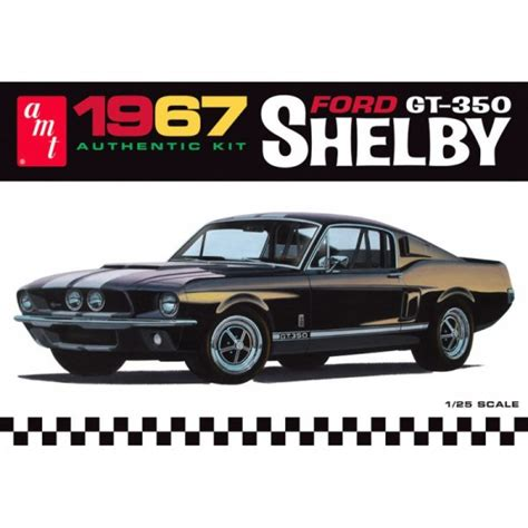 amt 1967 shelby gt350 mustang white version 1 25 scale