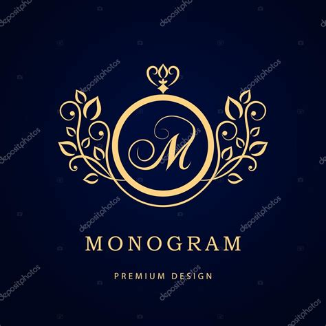 free elegant logo design monogram design elements graceful template elegant line