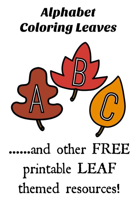 printable leaves with letters free fall leaf printable game and activity pack