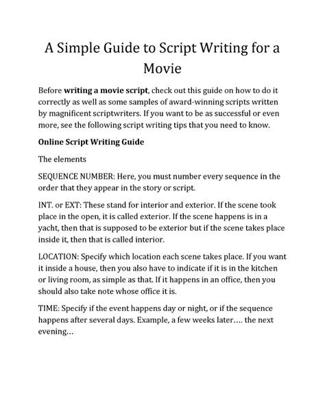 the ã s guide to the writing an memoir for prose writers books discover the simple guide to script writing for a