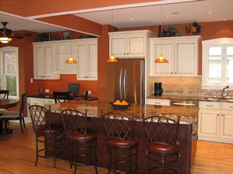 orange kitchens ideas rust colored kitchen cabinets quicua