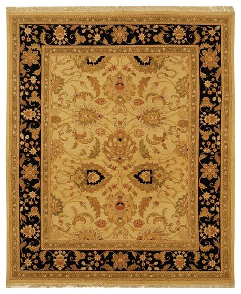 sumak yellow black area rug sum419a traditional rugs