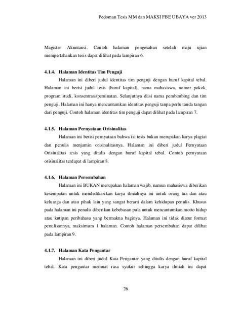 tesis magister akuntansi pedoman penulisan tesis pascasarjana fbe ubaya
