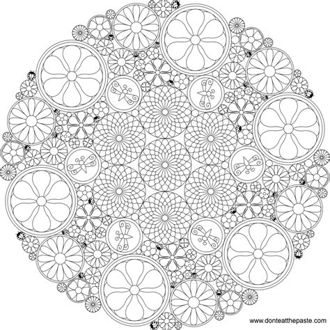 intricate mandala coloring pages free coloring pages don t eat the paste really intricate