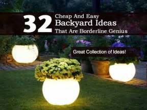32 cheap and easy backyard ideas that borderline on genius