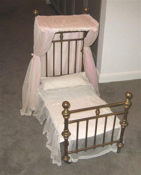 half tester bed antique doll half tester canopy brass bed from sondrakruegerantiques on ruby lane