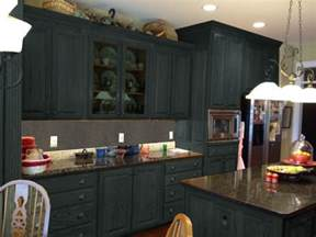 Painting Old Kitchen Cabinets Color Ideas by Dark Gray Color Painting Old Oak Kitchen Cabinets With