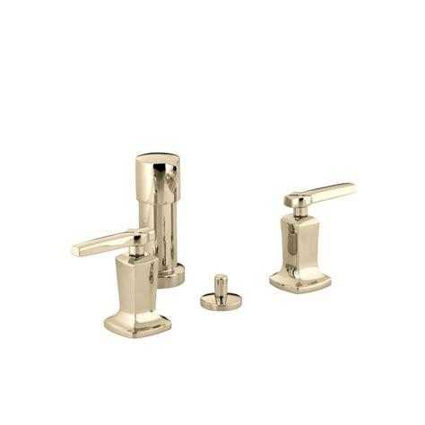 Kohler Margaux Faucet by Kohler Margaux 2 Handle Bidet Faucet In Vibrant Gold K 16238 4 Af The Home Depot