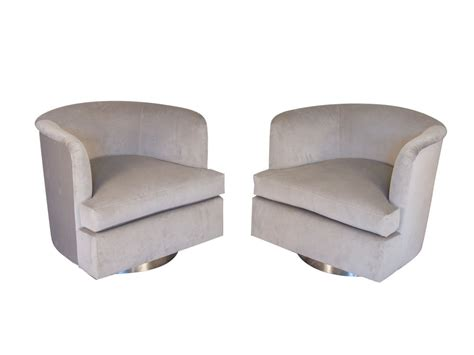 velvet swivel club chair milo baughman velvet chrome swivel lounge chairs club