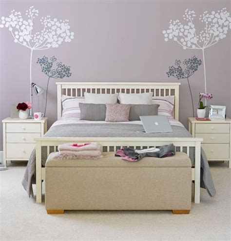 pastel purple bedroom pastel purple wall color with beige tufted bench for nice