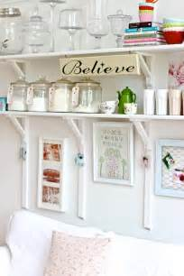 Kitchen Wall Shelving Ideas by Painted White Color Diy Wood Wall Mounted Folding Kitchen