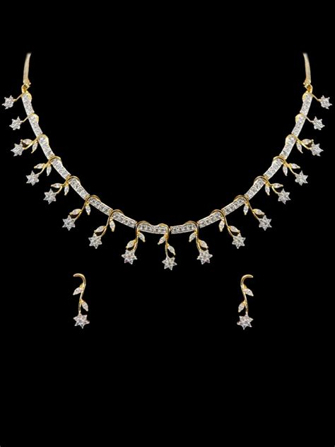 Western Home Decore by American Diamond Necklace Set F28 Ad05 Cilory Com