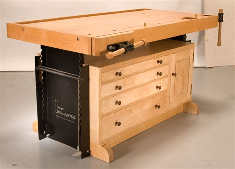 woodworker bench adjustable workbench popular woodworking magazine