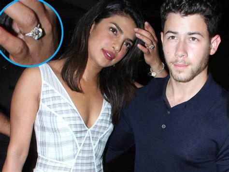 image of priyanka chopra engagement ring priyanka chopra wears engagement ring while out with nick