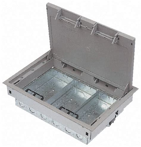 Floor Boxes by Gro3g Kit Britmac Grey Floor Box 3 Compartments 215 Mm