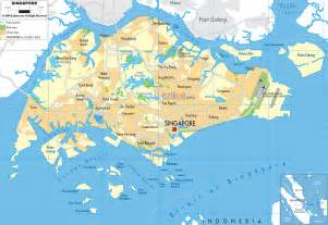 detailed clear large map of singapore ezilon maps
