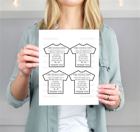printable iron on instructions tshirt care instructions printable pdf file by my vinyl