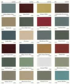 country colors primitive color chart paints primitive