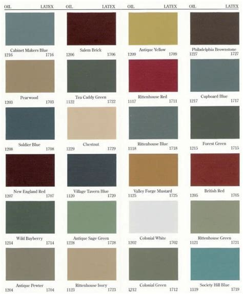 rustic paint color schemes primitive color chart old village paints primitive